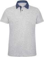 Polo Shirt Men Denim collar