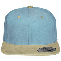 Snapback Cap visor suede touch