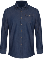 Jeans stitch denim shirt Men