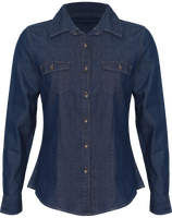 Women jeans stitch denim shirt