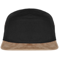 5 Panel Cap suede effect visor