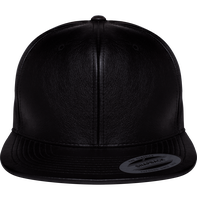 Casquette Snapback imitation Cuir