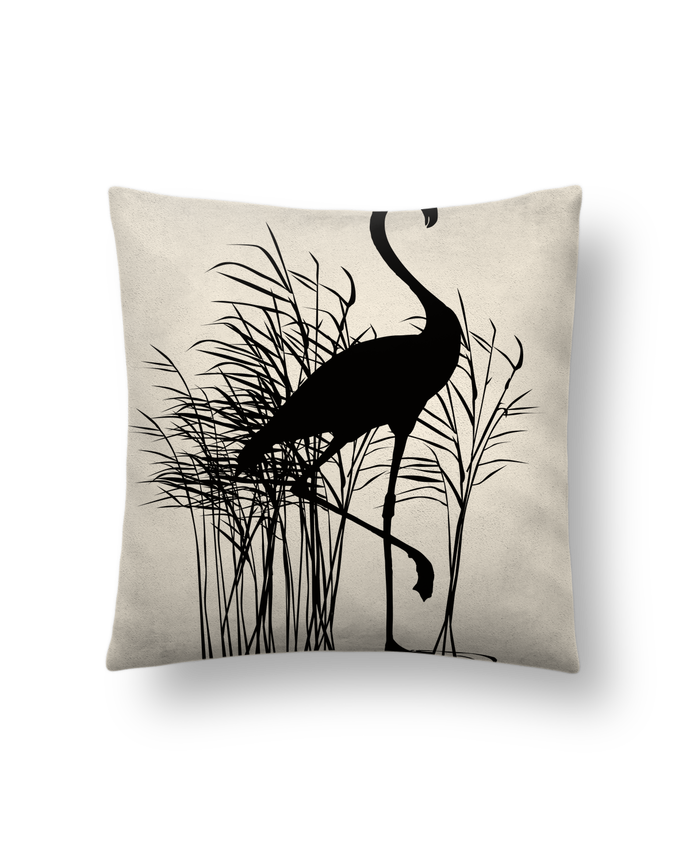 Cushion suede touch 45 x 45 cm Flamant roseaux by Studiolupi