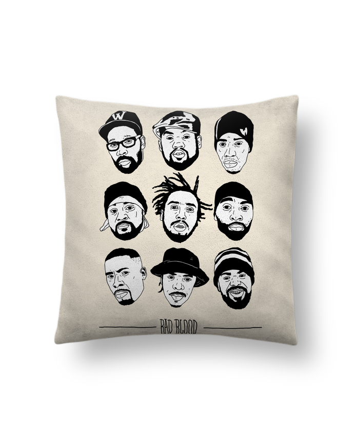 Cushion suede touch 45 x 45 cm #Besties wu tang clan by Nick cocozza