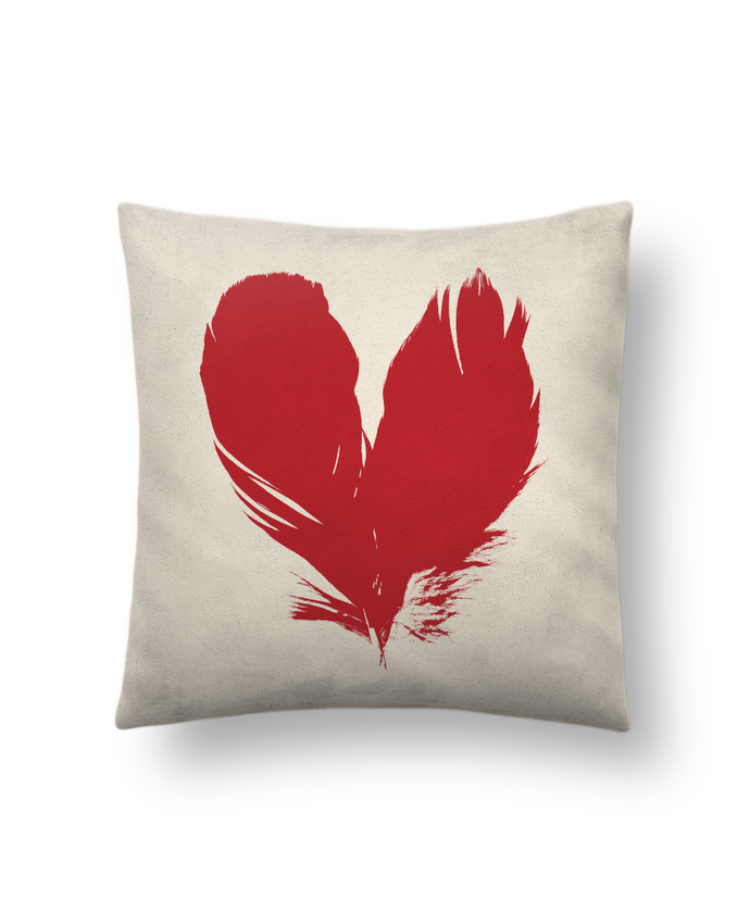 Cushion suede touch 45 x 45 cm coeur de plumes by Studiolupi