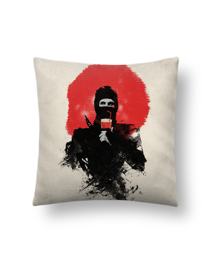Cushion suede touch 45 x 45 cm American ninja by robertfarkas