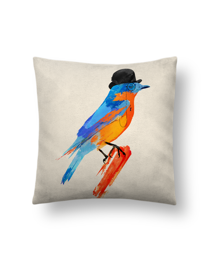 Cushion suede touch 45 x 45 cm Lord bird by robertfarkas