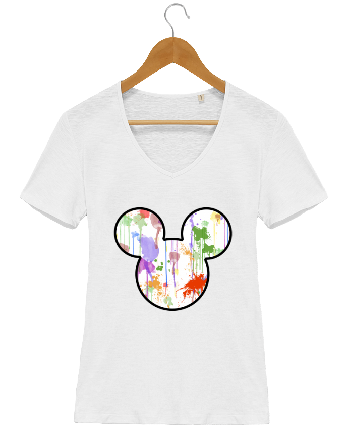 T-Shirt V-Neck Women Stella Chooses Mickey éclaboussures by Tasca