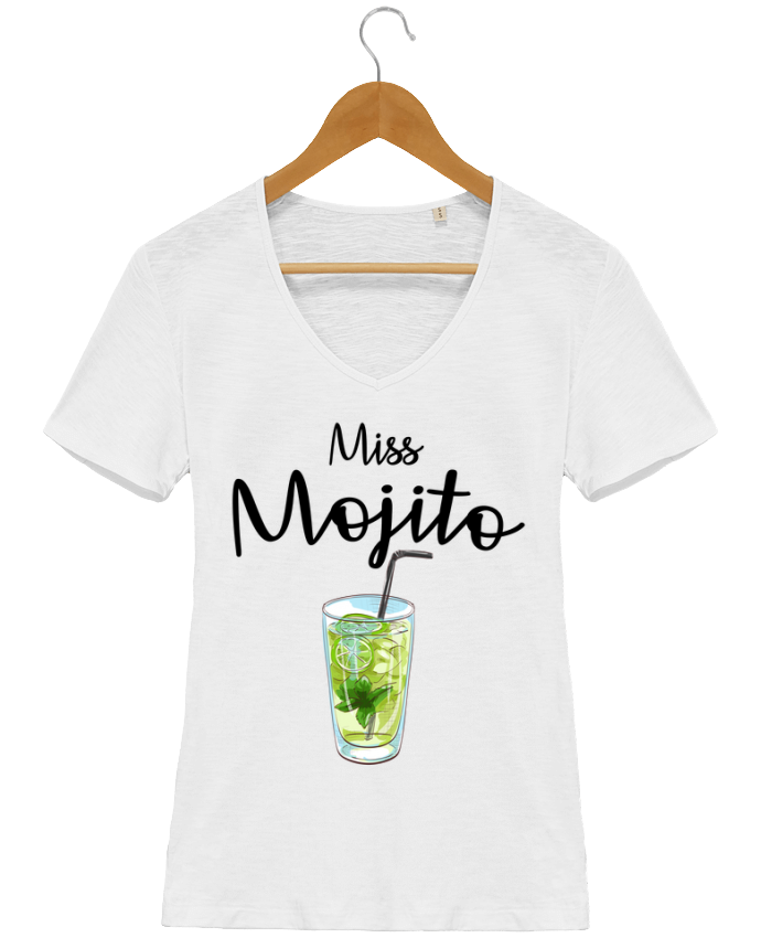 T-Shirt V-Neck Women Stella Chooses Miss Mojito by FRENCHUP-MAYO