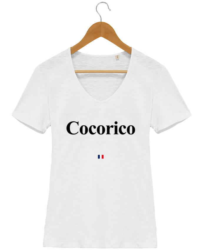 T-Shirt V-Neck Women Stella Chooses COCORICO by ASAAKINGOA