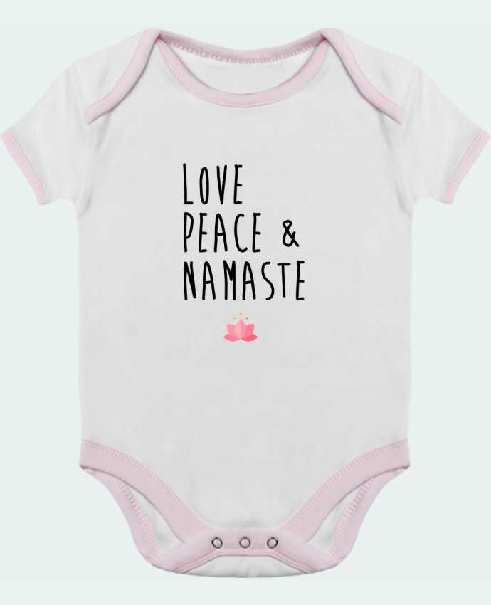 Baby Body Contrast Love, Peace & Namaste by tunetoo