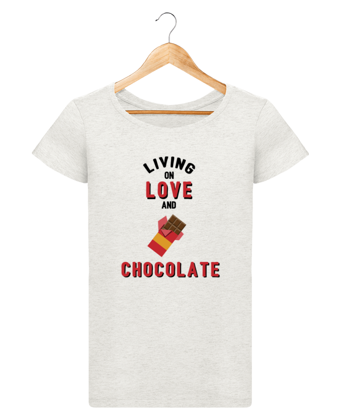 T-shirt Women Stella Loves Living on love and chocolate by tunetoo