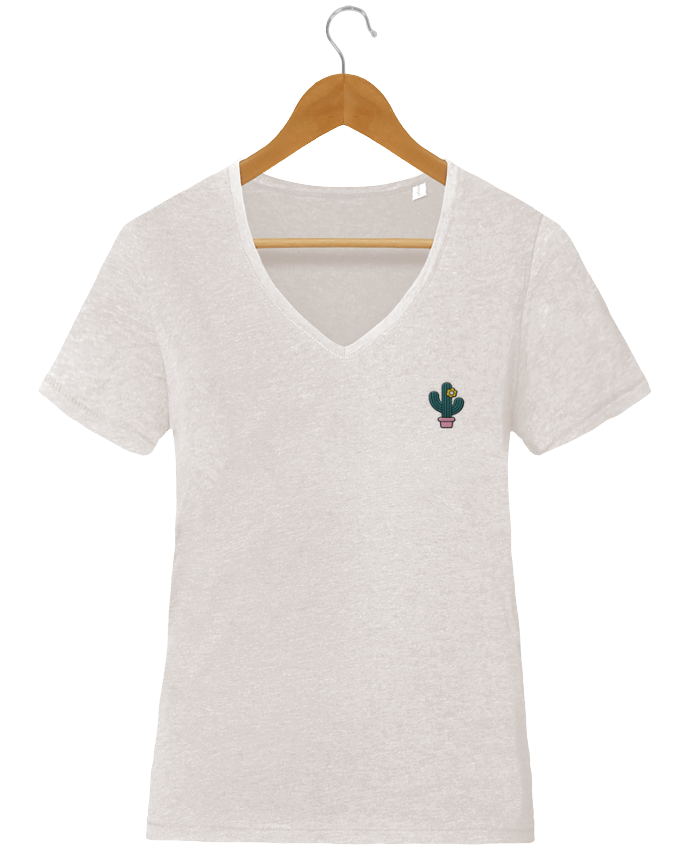 T-shirt femme brodé Stella Chooses Cactus by tunetoo