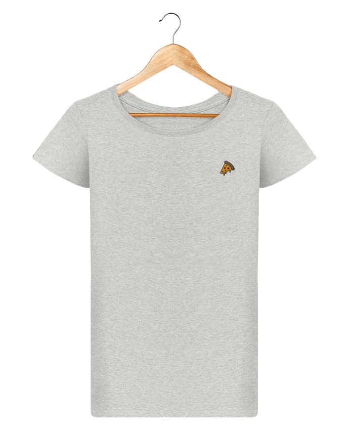 T-shirt  Femme Brodé Pizza slice by tunetoo
