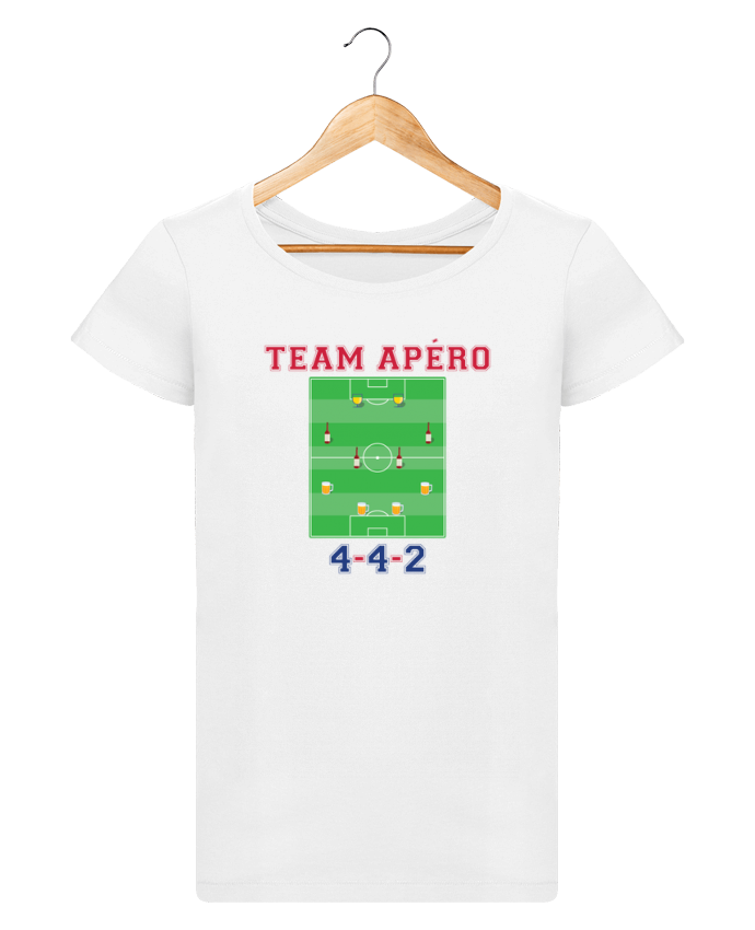 T-shirt Women Stella Loves Team apéro football by tunetoo