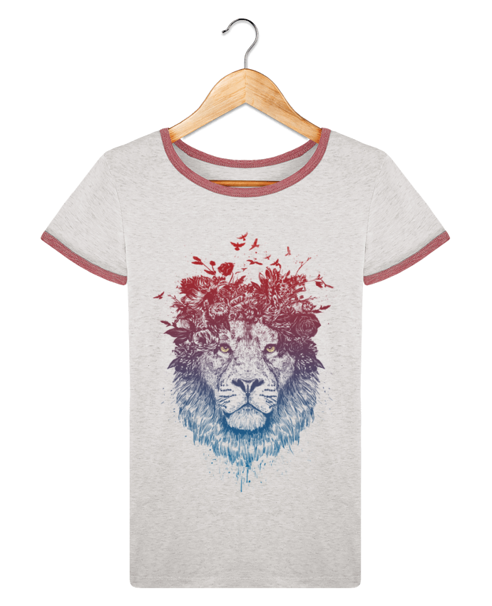 T-shirt Women Stella Returns Floral lion III pour femme by Balàzs Solti