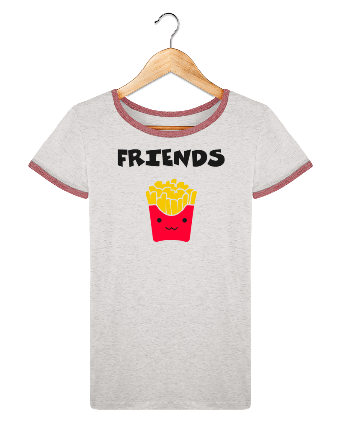 T-shirt Women Stella Returns BEST FRIENDS FRIES pour femme by tunetoo
