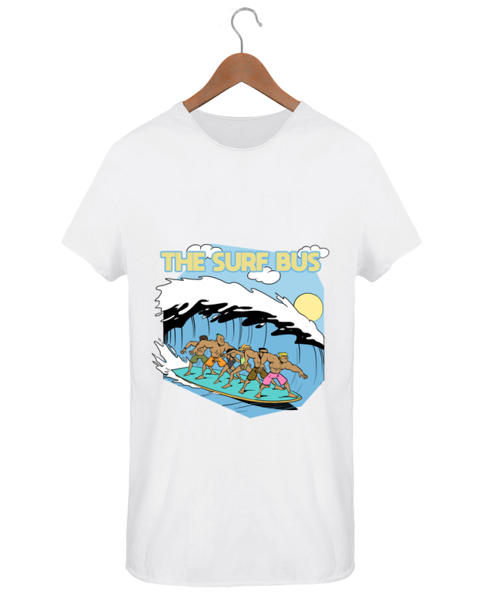 T-shirt Men Oversized Stanley Skates The Surf Bus by Tomi Ax - tomiax.fr