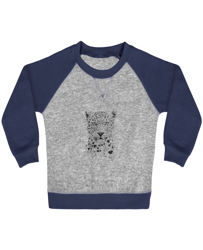 Sweatshirt Baby crew-neck sleeves contrast raglan lovely_leobyd by Balàzs Solti