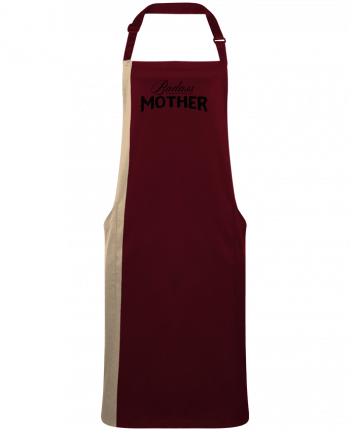 Two-tone long Apron Badass Mother by  tunetoo