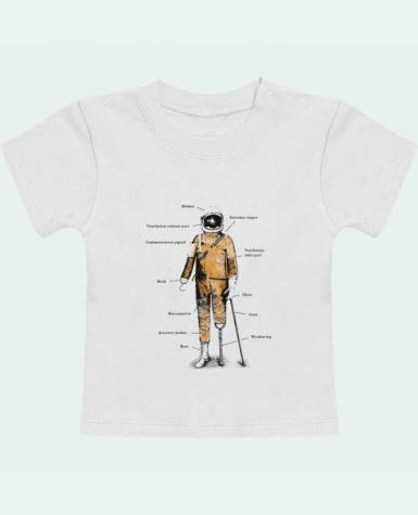 T-Shirt Baby Short Sleeve Astropirate with text manches courtes du designer Florent Bodart