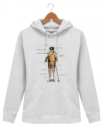 Hoodie Women Astropirate with text - Florent Bodart