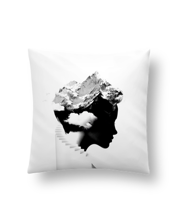 Cushion synthetic soft 45 x 45 cm It's a cloudy day by robertfarkas