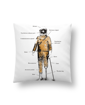 Cushion synthetic soft 45 x 45 cm Astropirate with text by Florent Bodart