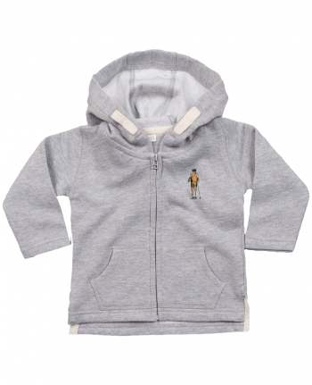 Hoddie with zip for baby Astropirate by Florent Bodart