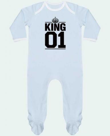 Baby Sleeper long sleeves Contrast King 01 by Freeyourshirt.com