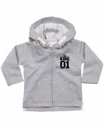 Hoddie with zip for baby King 01 by Freeyourshirt.com