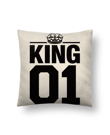 Cushion suede touch 45 x 45 cm King 01 by Freeyourshirt.com