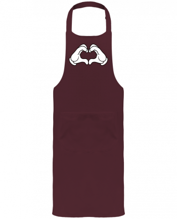 Garden or Sommelier Apron with Pocket LOVE Signe by Freeyourshirt.com