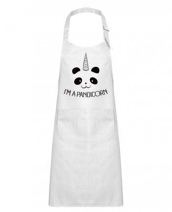 Kids chef pocket apron I'm a Pandicorn by Freeyourshirt.com