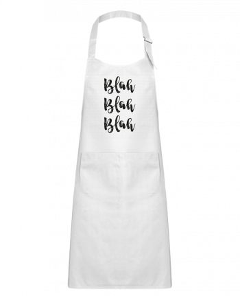Kids chef pocket apron Blah Blah Blah ! by tunetoo