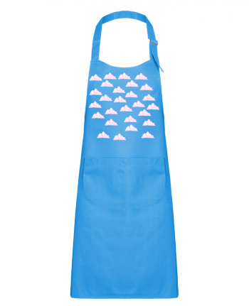 Kids chef pocket apron pink sky by Shooterz