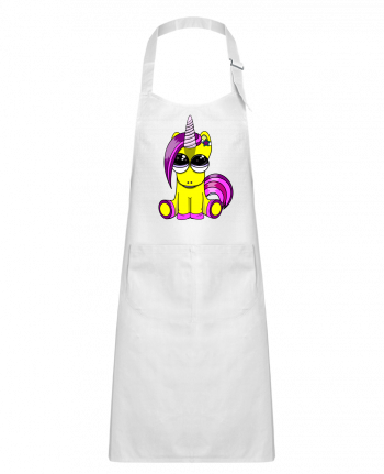 Kids chef pocket apron bébé licorne by markageurbain