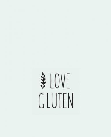 Tote Bag cotton I love gluten by Ruuud by Ruuud
