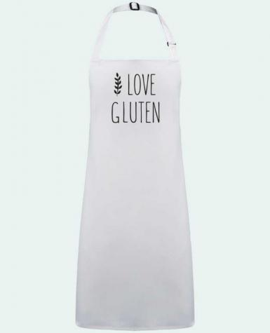 Apron no Pocket I love gluten by Ruuud by  Ruuud