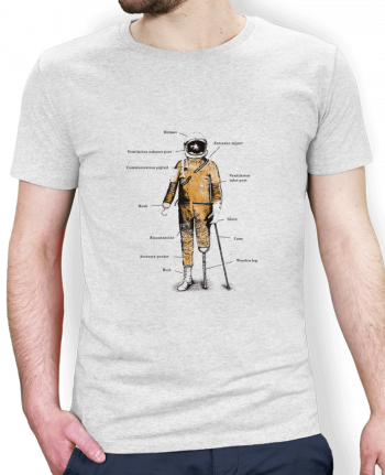 T-Shirt Men Stanley Hips Astropirate with text by Florent Bodart