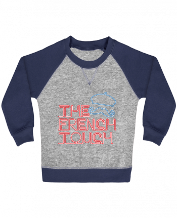 Sweatshirt Baby crew-neck sleeves contrast raglan The French Touch by Freeyourshirt.com