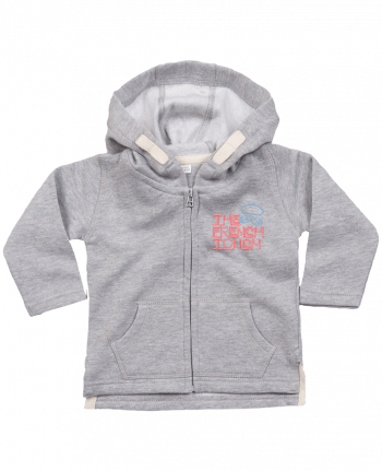 Hoddie with zip for baby The French Touch by Freeyourshirt.com