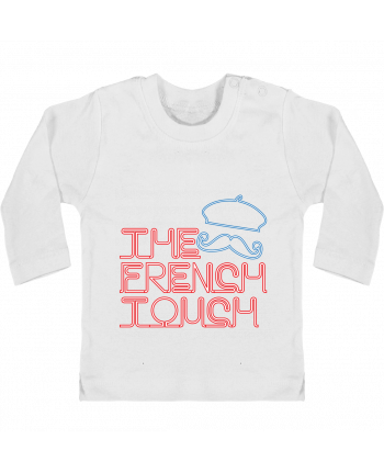 Baby T-shirt with press-studs long sleeve The French Touch manches longues du designer Freeyourshirt.com