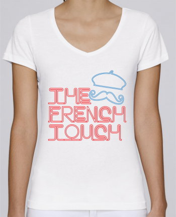 T-Shirt V-Neck Women Stella Chooses The French Touch by Freeyourshirt.com