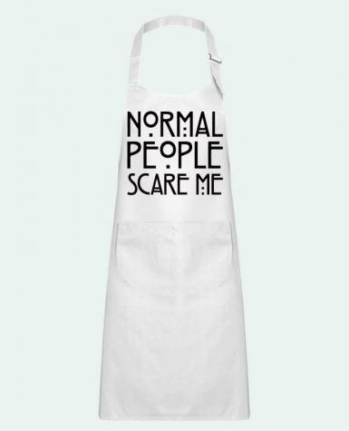 Kids chef pocket apron Normal People Scare Me by Freeyourshirt.com