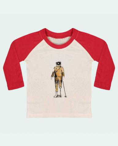 T-shirt baby Baseball long sleeve Astropirate by Florent Bodart