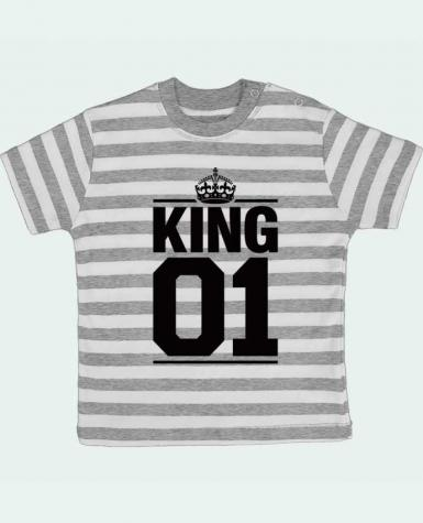 T-shirt baby with stripes King 01 by Freeyourshirt.com