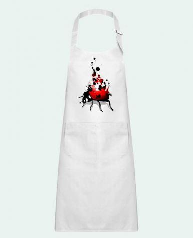 Kids chef pocket apron coccinelle by Graff4Art
