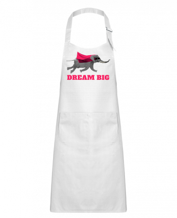 Kids chef pocket apron Dream big éléphant by justsayin