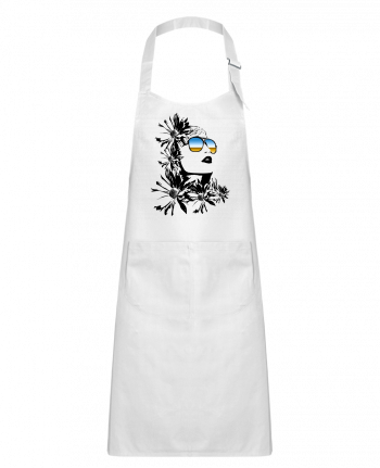 Kids chef pocket apron women by Graff4Art